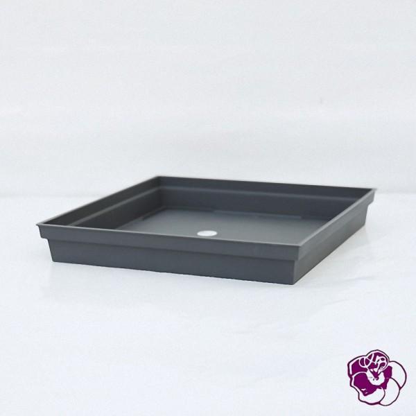 Soucoupe Carrée  Plastique 40x40x5.9 cm Anthracite